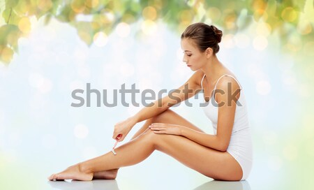 beautiful woman in towel Stock photo © dolgachov