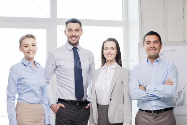 幸せ ビジネスチーム オフィス ビジネス 女性 会議 ストックフォト © dolgachov