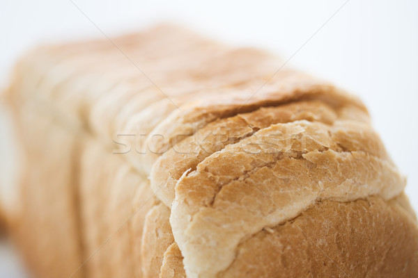 Stock photo: close up of white toast bread