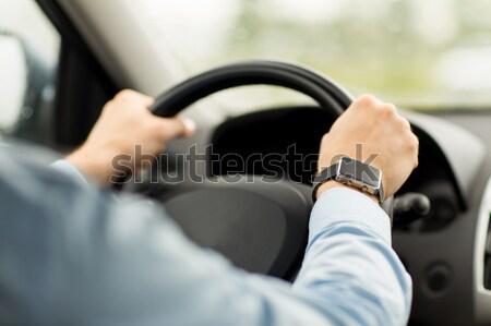 Man rijden auto vervoer Stockfoto © dolgachov