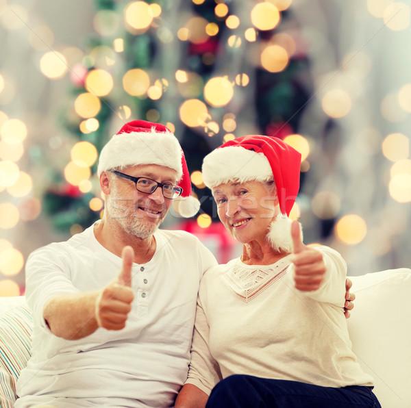 Feliz pareja de ancianos ayudante familia Foto stock © dolgachov