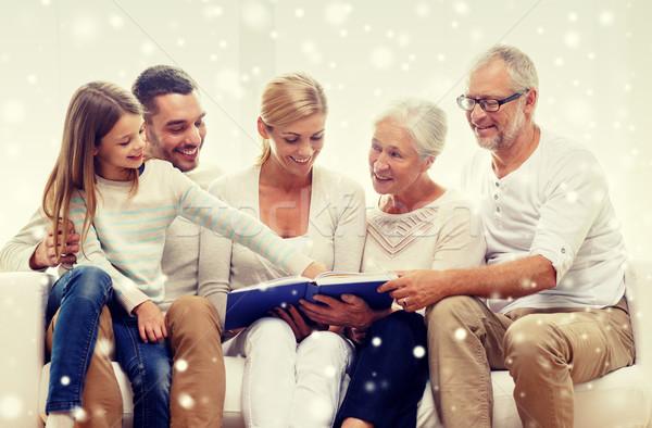 Famiglia felice libro photo album home famiglia felicità Foto d'archivio © dolgachov