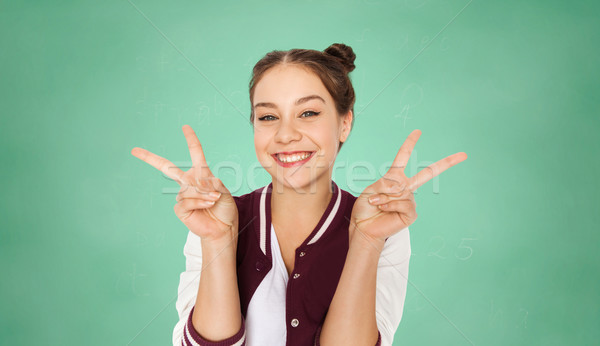 Zdjęcia stock: Szczęśliwy · student · dziewczyna · pokoju