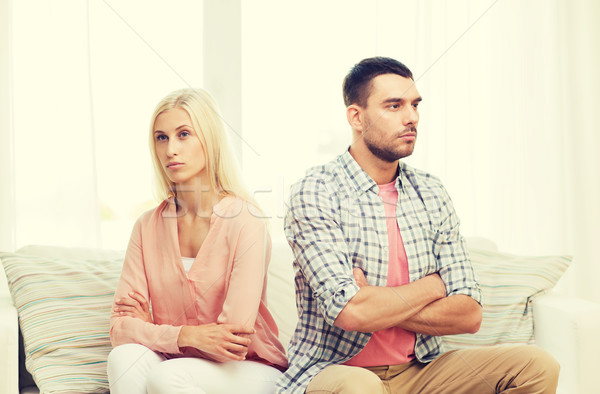 несчастный пару аргумент домой люди отношения Сток-фото © dolgachov