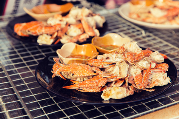 блюдо улице рынке приготовления азиатских кухне Сток-фото © dolgachov