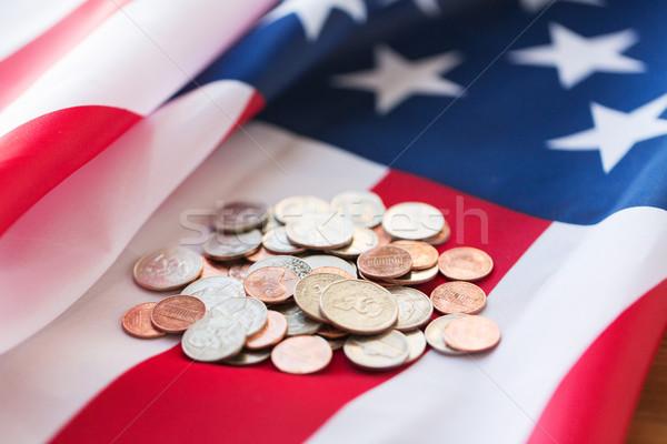 Сток-фото: американский · флаг · деньги · бюджет · Финансы · кризис