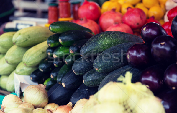 close up of squash at street farmers market Stock photo © dolgachov