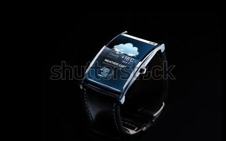 Smart oglądać pogoda prognoza nowoczesne Zdjęcia stock © dolgachov