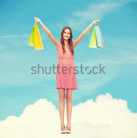 Vrouw bikini zonnebril foto mooie vrouw gelukkig Stockfoto © dolgachov