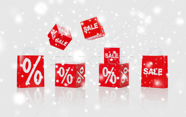 shopping bags with sale and percent signs Stock photo © dolgachov