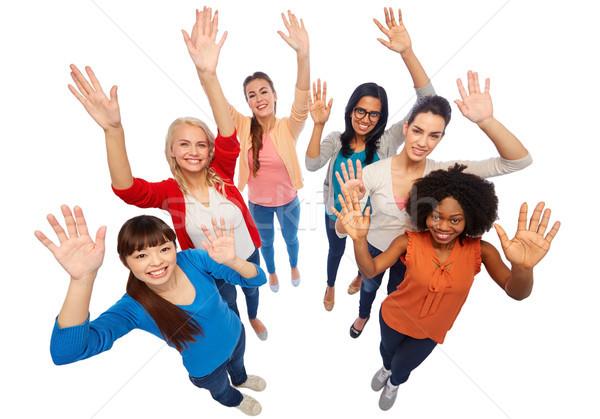 Stock photo: international group of happy smiling women