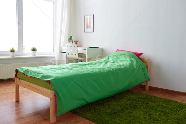 kids room interior with bed, table and accessories Stock photo © dolgachov