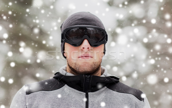 Deportes hombre invierno aire libre fitness Foto stock © dolgachov