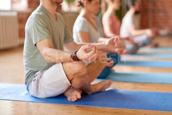группа людей йога студию фитнес Сток-фото © dolgachov