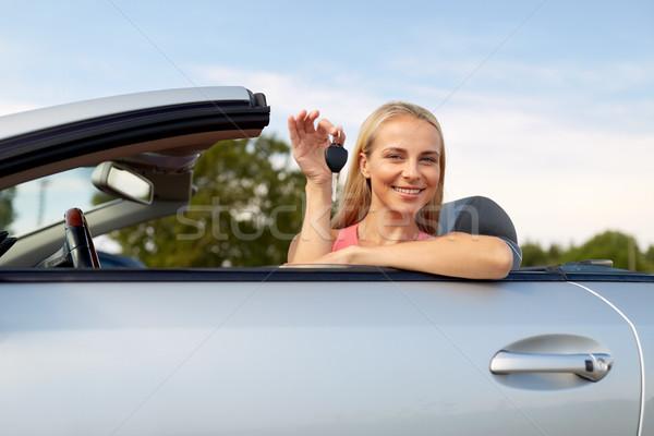 幸せ 若い女性 車のキー プロパティ セキュリティ 輸送 ストックフォト © dolgachov