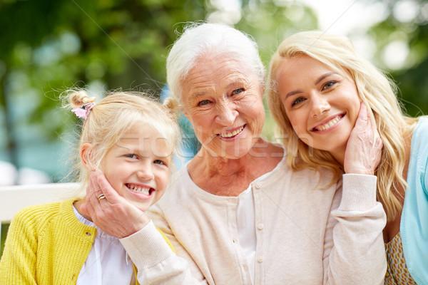 женщину дочь старший матери парка семьи Сток-фото © dolgachov