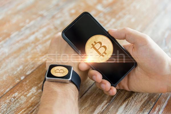 Bitcoin inteligentes ver negocios Foto stock © dolgachov