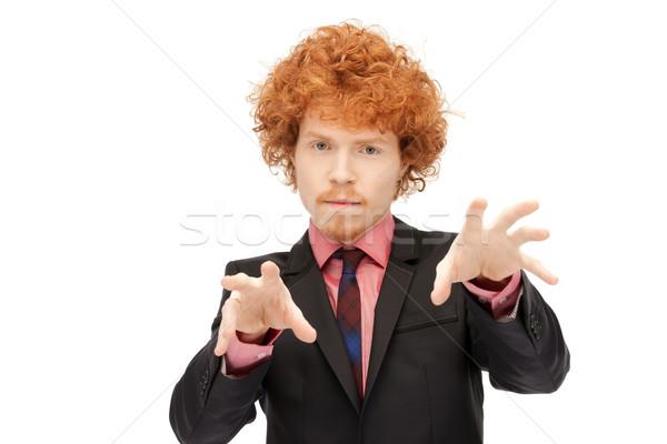ビジネスマン 作業 虚数 画像 ビジネス ストックフォト © dolgachov
