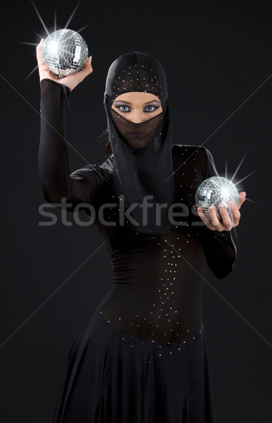 ниндзя вечеринка танцовщицы платье дискотеку Сток-фото © dolgachov