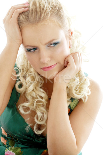 pensive girl Stock photo © dolgachov