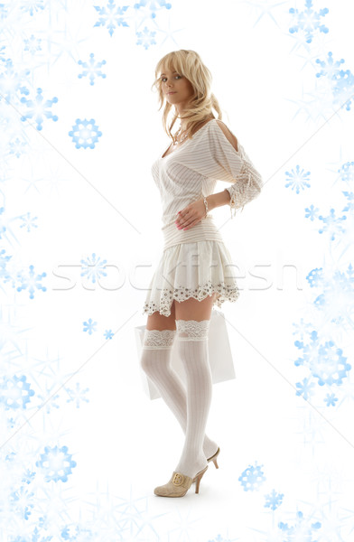 Shopping bag fiocchi di neve magnifico moda neve Foto d'archivio © dolgachov