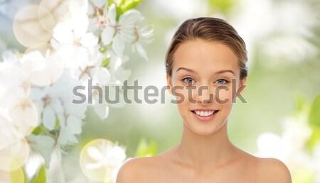 Lelie blond mooie dame witte meisje Stockfoto © dolgachov