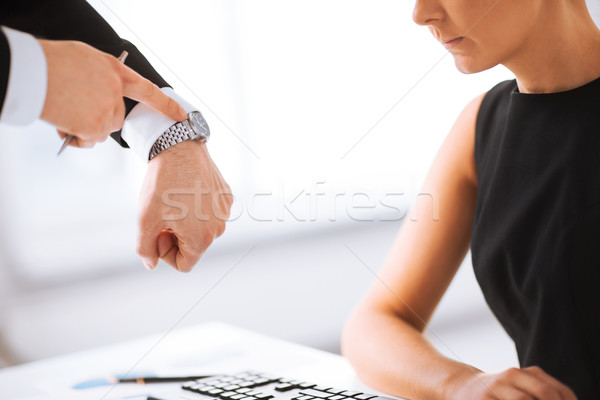 boss and worker at work having conflict Stock photo © dolgachov