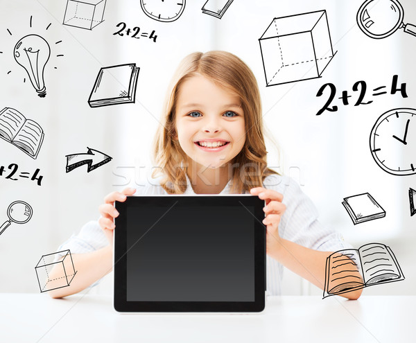 girl with tablet pc at school Stock photo © dolgachov