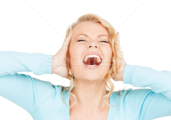mad woman Stock photo © dolgachov