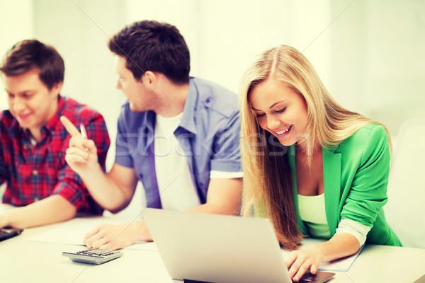 Studentów piśmie test egzamin wykład szkoły Zdjęcia stock © dolgachov