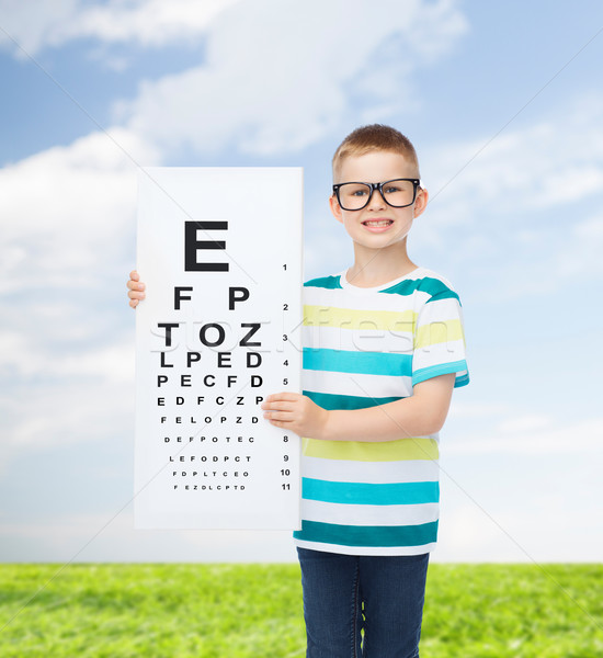 Lächelnd Junge weiß Bord Vision Stock foto © dolgachov