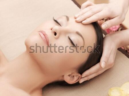 Bella donna spa salone resort bellezza salute Foto d'archivio © dolgachov