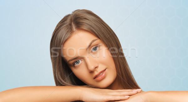 Mooie jonge vrouw schouders schoonheid mensen Stockfoto © dolgachov