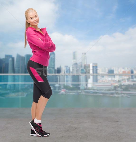 beautiful sporty young woman Stock photo © dolgachov