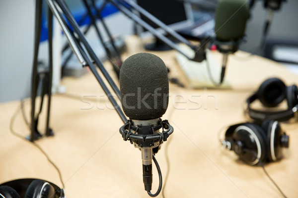 Mikrofon radyo istasyon teknoloji elektronik Stok fotoğraf © dolgachov