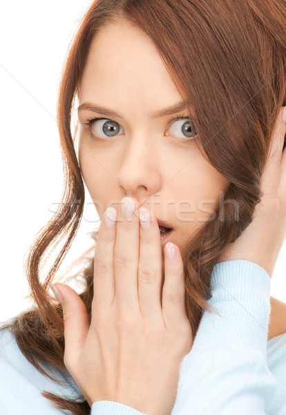 hand over mouth Stock photo © dolgachov