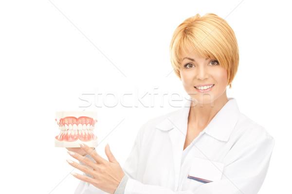 Orvos kép vonzó nő nő gyógyszer fogorvos Stock fotó © dolgachov