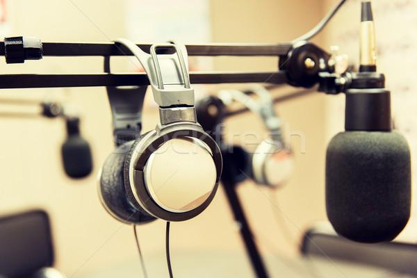 ストックフォト: ヘッドホン · ラジオ · 駅 · 技術 · エレクトロニクス