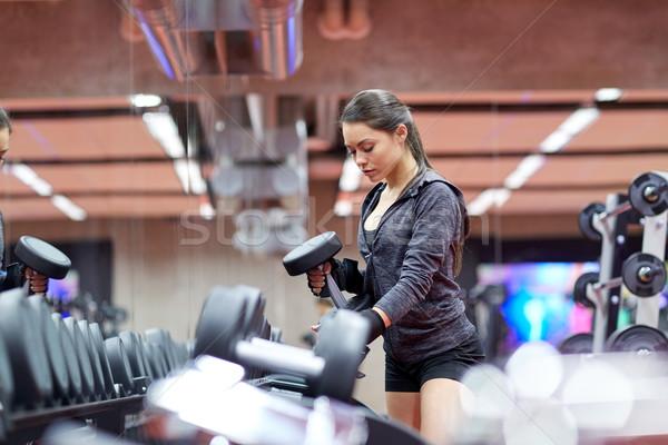 Сток-фото: гантели · спортзал · фитнес · спорт