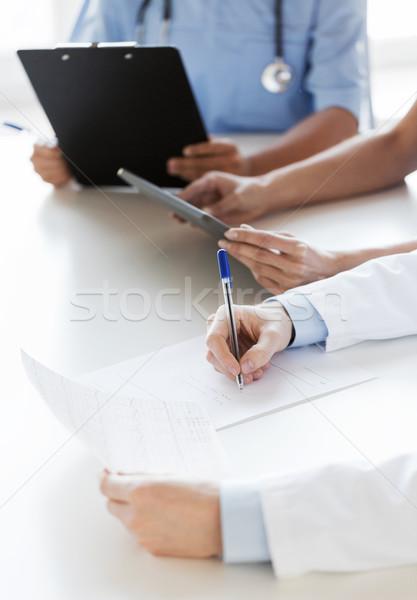 Gelukkig artsen seminar ziekenhuis onderwijs Stockfoto © dolgachov