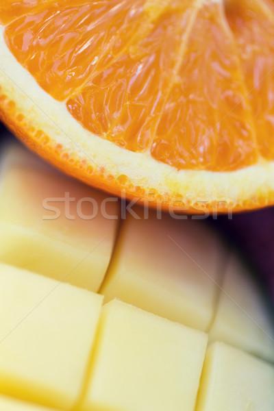 свежие сочный оранжевый манго Ломтики Сток-фото © dolgachov