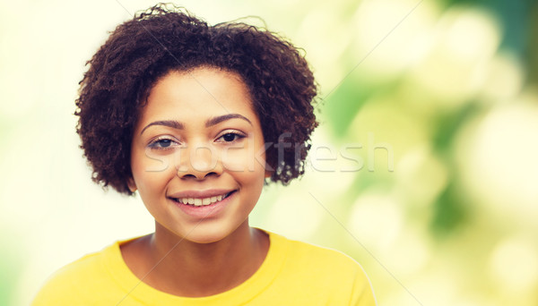 happy african american young woman face Stock photo © dolgachov