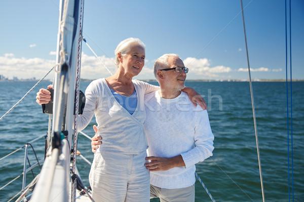 Stockfoto: Zeil · boot · jacht · zee