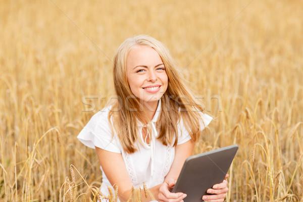 Feliz cereales campo verano Foto stock © dolgachov