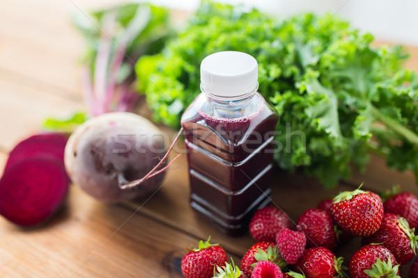 бутылку свекла сока плодов овощей Сток-фото © dolgachov