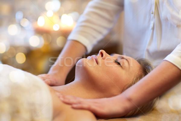 Foto d'archivio: Donna · massaggio · spa · persone