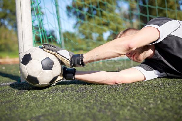 Torhüter Ball Fußball Ziel Bereich Sport Stock foto © dolgachov