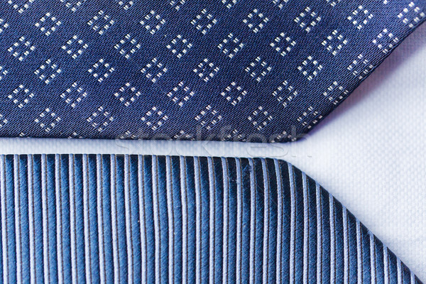 close up of blue patterned ties Stock photo © dolgachov
