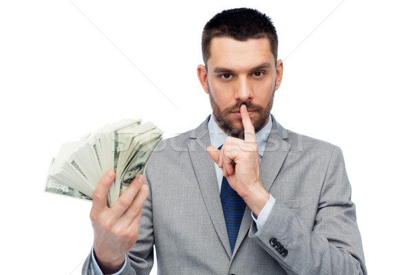 businessman with american dollar money Stock photo © dolgachov