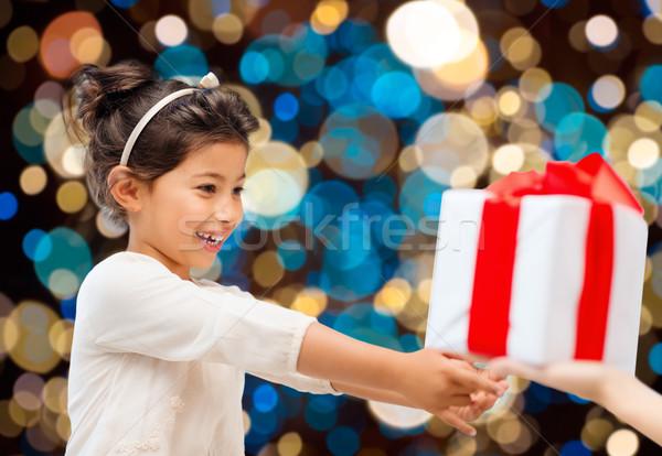 Stockfoto: Glimlachend · meisje · aanwezig · vakantie · jeugd · mensen